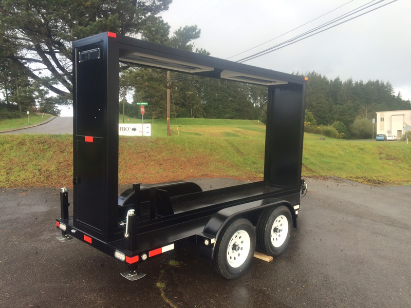 Midsize Commercial Billboard Trailers Outdoor Mobile